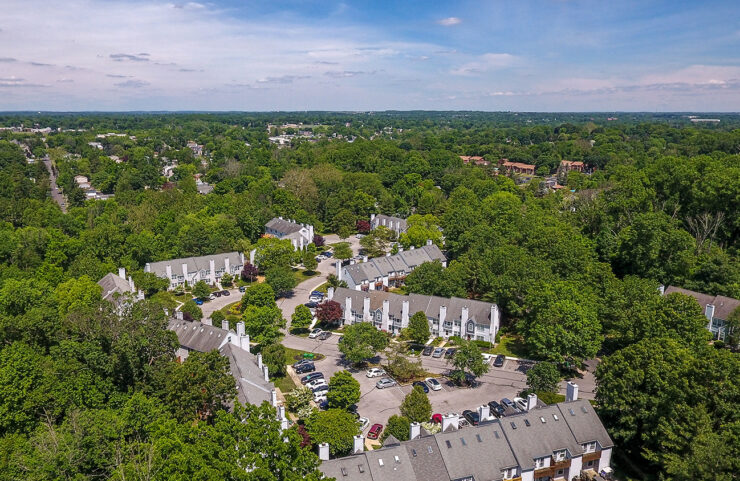 aerial view of Hilltop townhomes