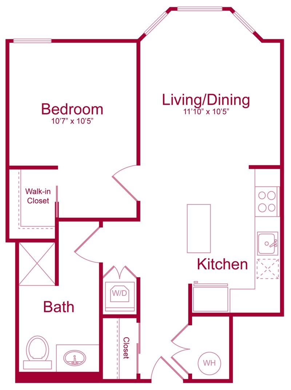 302 - 1 bed 1 bath - 700 SF