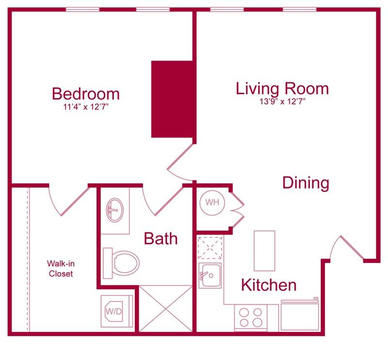 304 - 1 bed 1 bath - 735 SF