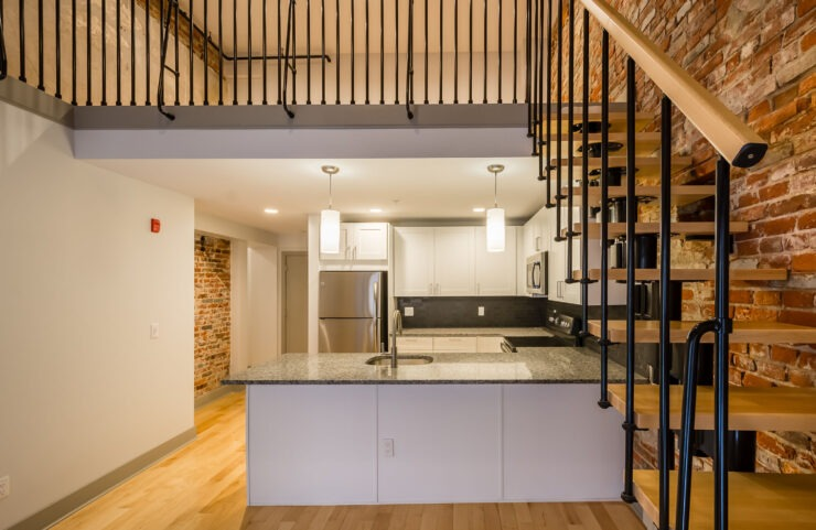 Kitchen Island In Select Homes - Stairs In Duplex Homes